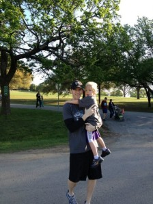 Hudson and me at the race